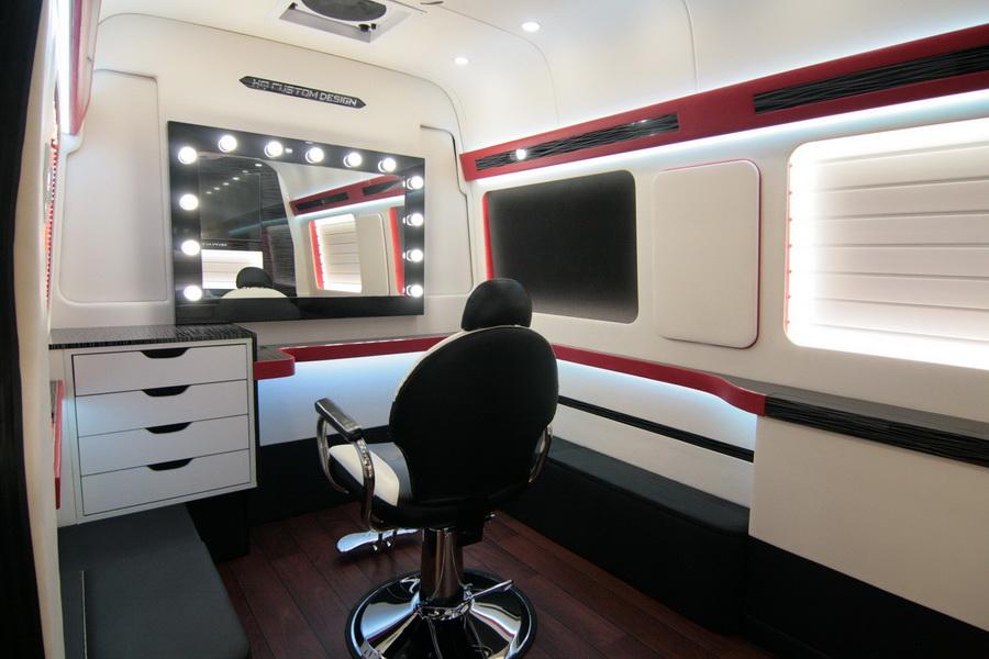 Home Spa Design Ideas: Mobile Hair Salon And Makeup Studio